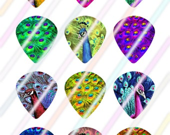 Peacock Jazz Style Pick Images 4x6 Digital Collage Sheet Wine Love Instant Download