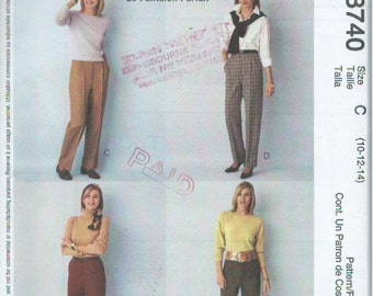 """McCall's 3740 Sewing Pattern """"Palmer & Pletsch Classic Fit"""" The Perfect Pants (2002)"""