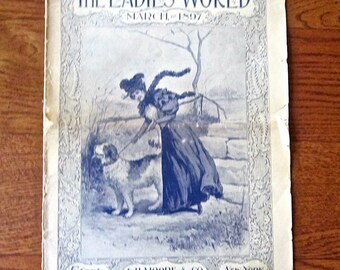 The Ladies' World Magazine from May 1897 Fashions Gardening Needlework Victorian Ads
