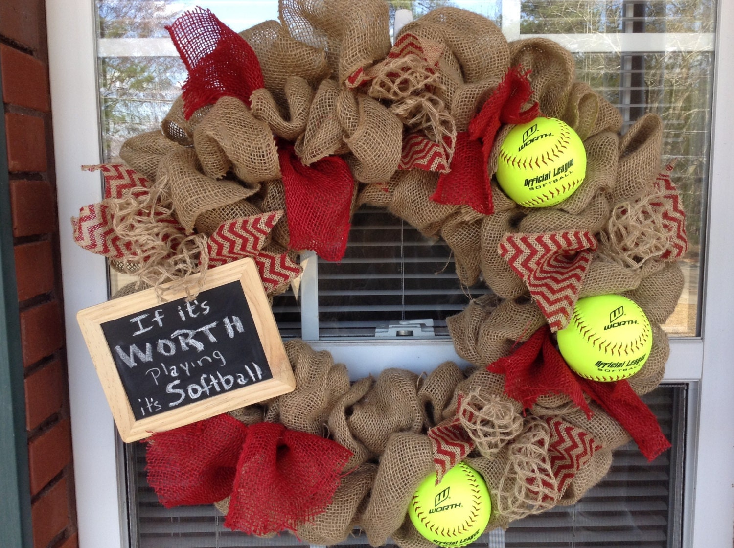 Softball Wreath Related Keywords Suggestions Softball Wreath