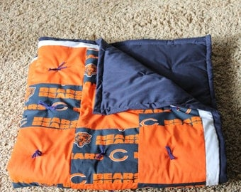 NFL Chicago Bears baby quilt.