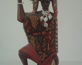 African Warrior Wooden Sculptured Figure Hand Made