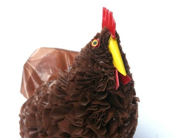 Recycled Plastic Handmade Chicken Artwork Sculpture From South Africa