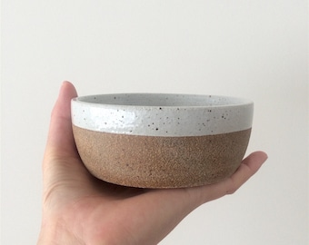 Hand Thrown Ceramic Bowl Set for Small Dog and Larger Cat
