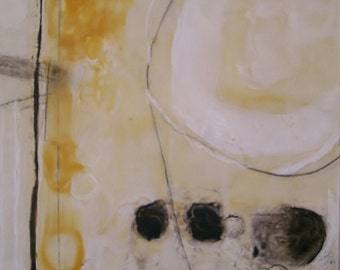 "Encaustic abstract modern art painting 24""x18"" large wall art by Donna Sledge"