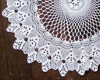 White Crochet Doily Vintage lacy doily