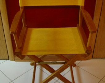 Vintage Wood And Canvas Hollywood Directors Chair . . . Folding Chair,  Camping, Tailgating