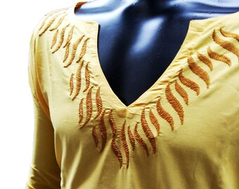 Valentines gift Gypsy clothing for Mens tunic kurta salwar kameez Viking tunic hand embroidered boho cotton shirt handmade gifts for him