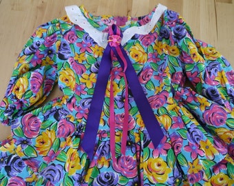 Vintage 80s Girl's Dress