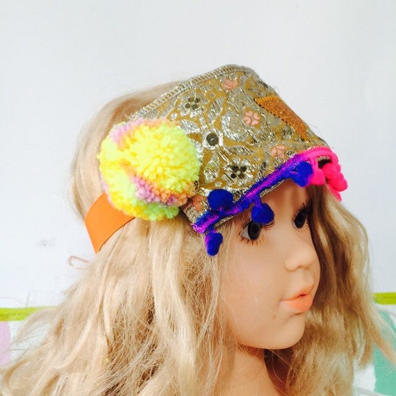 SPIN 1-2 Years Festival Kids Headband Headpiece Pom Poms