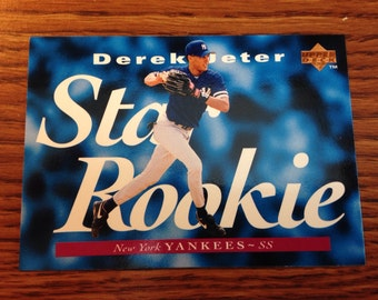 Derek Jeter 1995 STAR ROOKIE New York Yankees Baseball Card Vintage