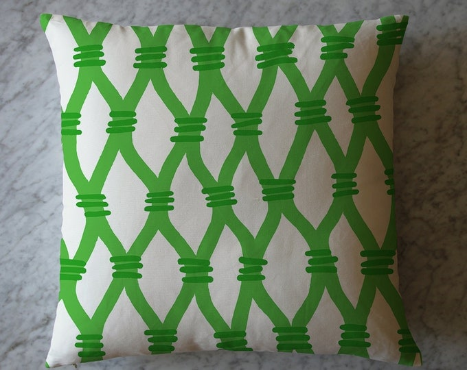 Pillow with Green Lattice.  August 8, 2011