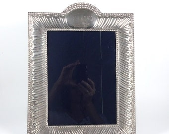 Vintage Sterling Silver Picture Frame Peruvian Solid Silver 925 Del Pilar