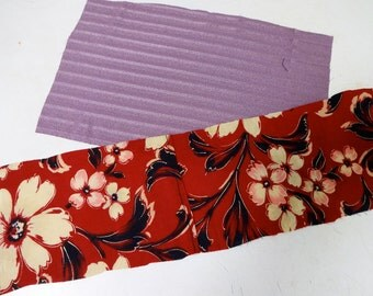 2pc Vintage KIMONO Fabric scrap