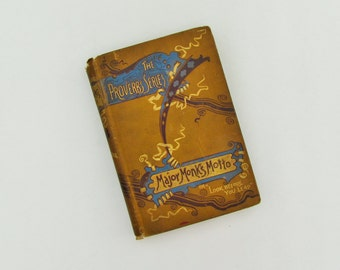 "Antique boy's novel published in 1887, ""Major Monk's Motto"", Victorian novel set in boy's school in England, English Victorian novel"