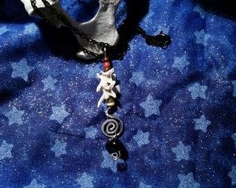 rattlesnake bones necklace. snake vertebrae. bone necklace. real bones.