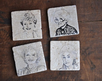 Golden Girls Tile Coaster Set - Handmade