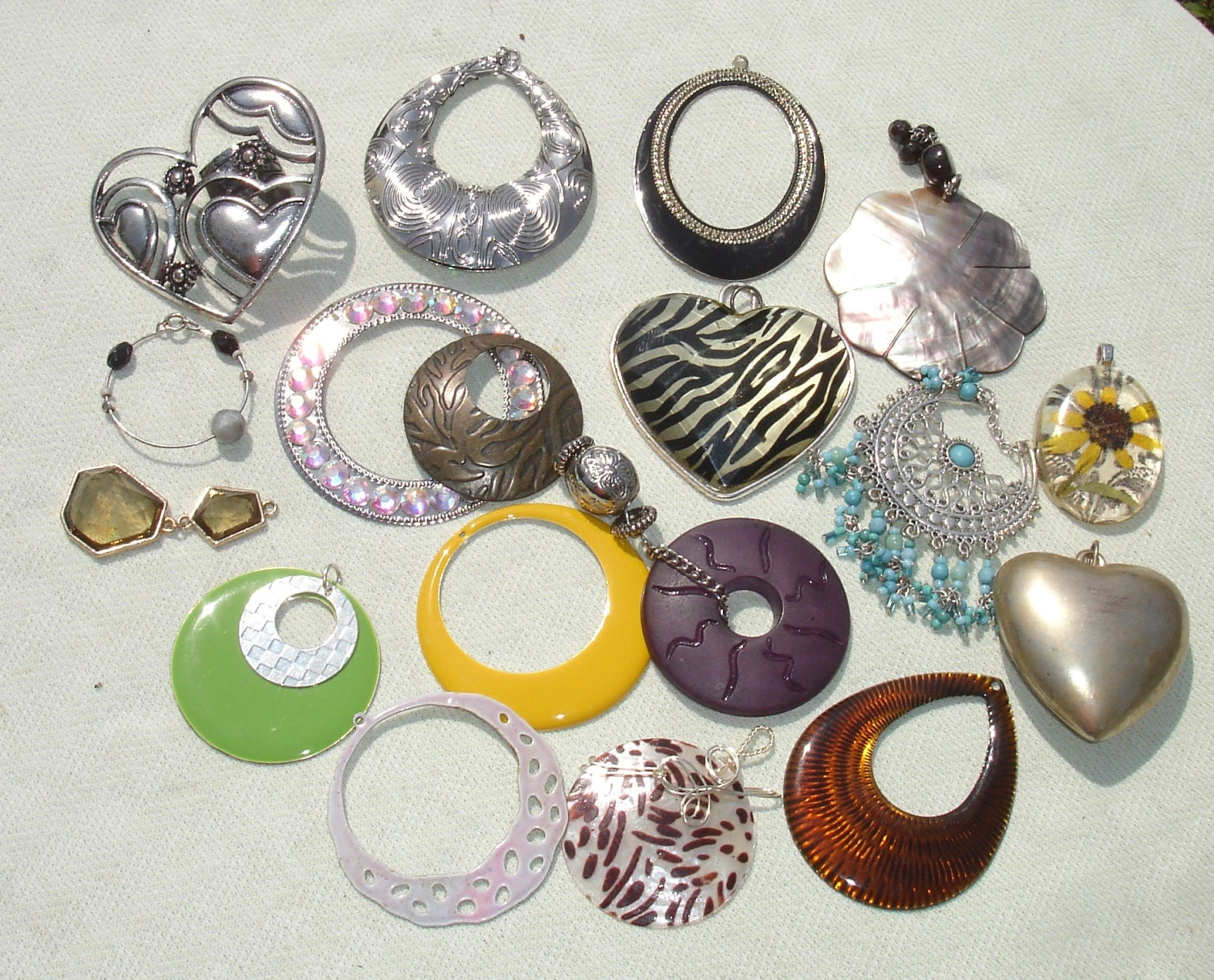 Destash charms jewelry making supplies 18 pcs for Earring supplies for jewelry making