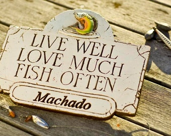 Fish Often Personalized Sign