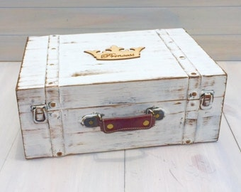 Keepsake Box Memory Box Trunk Suitcase Time Capsule Anniversary Box (LARGE) COLOR of your CHOICE