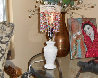 Special Introdutory Pricing!! Beautiful Hand Crafted Clip On Lampshade