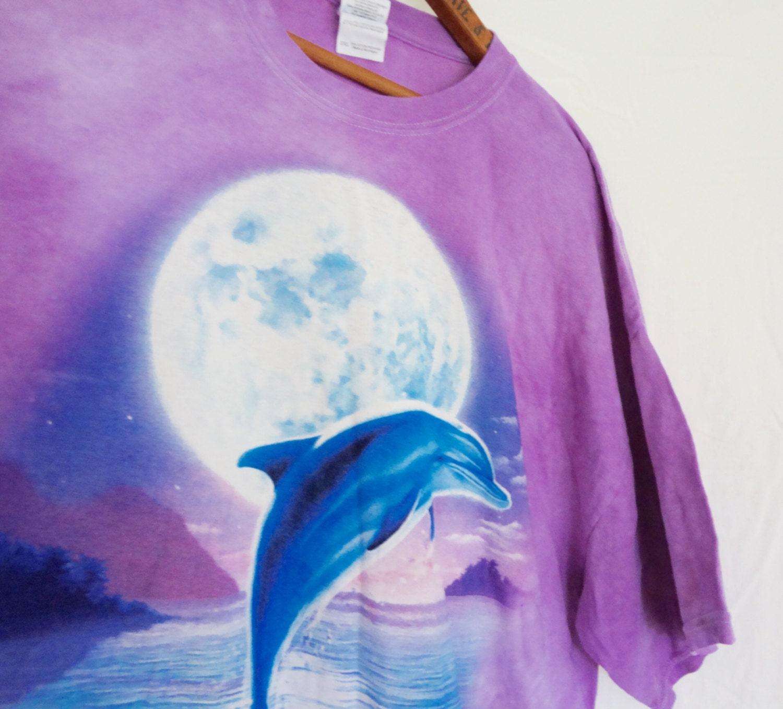 Dolphin T-shirt Tie Dye Purple Pink Women Men By