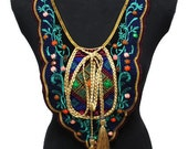 SALE Day Ethnic Vinatge Embroidered Necklace Yoke Collar for Fashion and Costumes