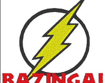 Bazinga (Big Bang Theory) Digital Machine Embroidery PES FILE ONLY!