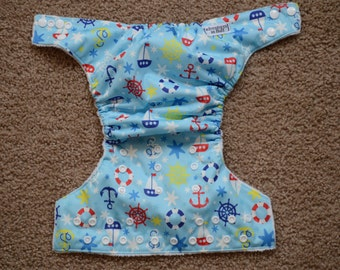 One Size Ships Ahoy Cloth Diaper