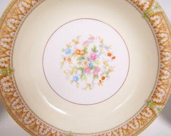 Vintage Noritake China Ronald Pattern Made in Japan Soup Bowl Salad Bowl Set of 3 Gold and Floral