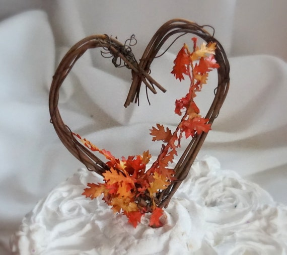 fall wedding cake toppers fall cake topper autumn wedding decor ready to ship 4022