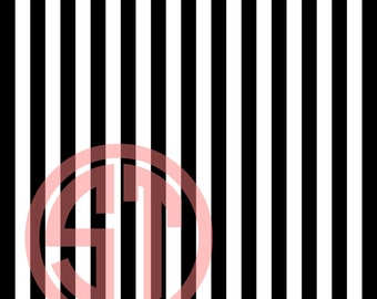 Chunky Stripes Black & White printed Vinyl or HTV to use in vinyl cutter.. You choose size 6x6, 8.5x11, 12x12, 12x24 or 12x36