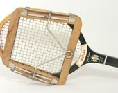 Vintage Wilson Jack Kramer Pro Speed Flex Wood Tennis Racket & Press