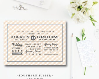 Southern Supper Invitation | Rehearsal Dinner or Cookout Party | Printed or Printable by Darby Cards