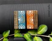 Polka Dot Moroccan Style Magnet Set - Boho Kitchen Fridge Art - Bohemian Decor - Hand Painted Wood Magnet Set - Pkg. 2