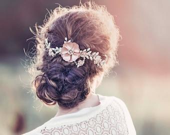 Romantic Decorative Wedding Hair Adornment, Wedding headpiece, Bridal headpiece, Adelaide Bridal Hair vine #GD1030