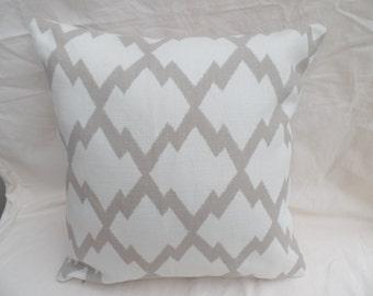 "Modern handmade 16"" biege and cream aztec cushion cover, pillow, pillow case, scatter cushion."