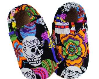 Sugar Skulls Halloween Baby Shoes Slippers