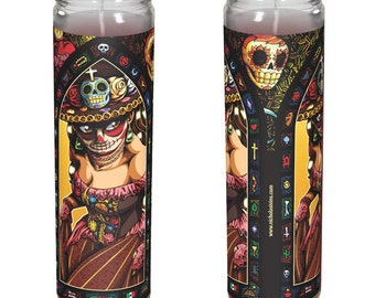 """Catrina Day of the Dead Candle - """"Catalina"""""""
