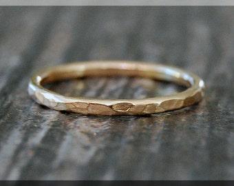 14k Gold Hammered Ring, Hammered 14k gold filled ring, 14k Gold Stacking Ring, delicate gold filled ring, Dainty stacking ring, gold ring