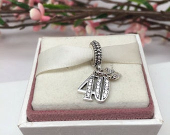 Authentic Pandora 40 Years of Love Charm For Bracelet !