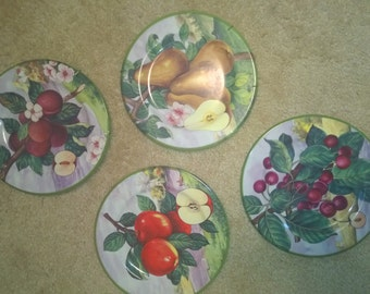 Villa d' Este Fruit plates decor from Italy Vintage