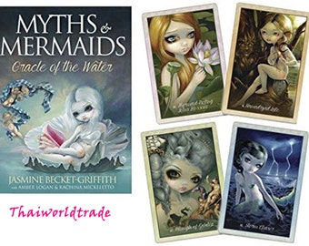 New Genuine Creative Beautiful Art Myths & Mermaids Oracle of the Water Jasmine Becket-Griffith Tarot Desk Guide Guides and How To Tos Gift