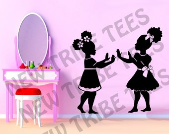 Beautiful Hand Games Wall Decal- Natural Hair, Wall Decal, Afro Hair