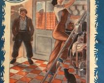Vintage French 1950s ROMANCE  Novel Magazine Love MARRIAGE DIY