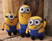 Minion Plushie Set of Three Natural Doll Toys