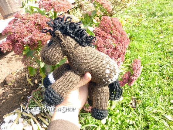 Snowflake: Appaloosa Pony Girl's Soft Horse Toy Stuffed Plush Pony Animal Natural Waldorf Play