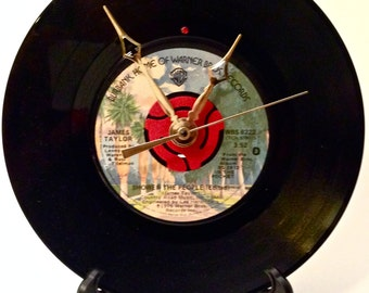 "Recycled JAMES TAYLOR 7"" Record / Shower The People / Record Clock"