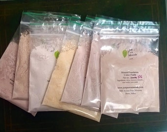 SALE -Refill Baggies Vegan Mineral Makeup - Foundation -
