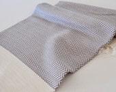 Kitchen Towel Hand Towel Peshkir Vermicelli pattern in light grey color